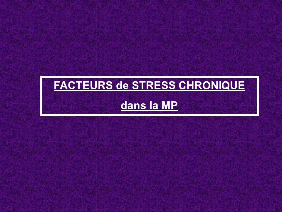 FACTEURS de STRESS CHRONIQUE dans la MP