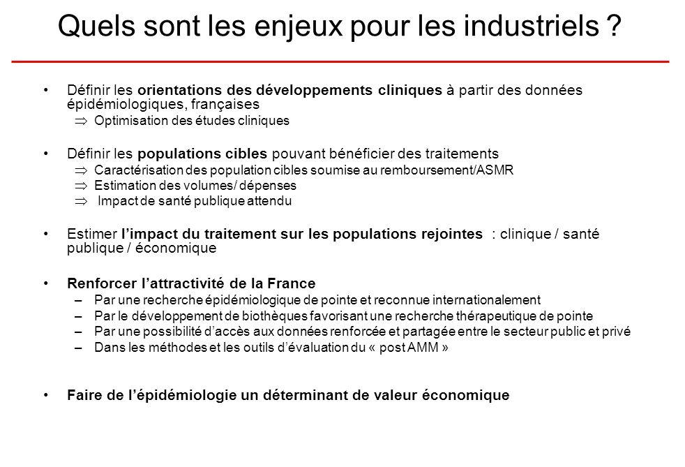 Quels sont les enjeux pour les industriels .