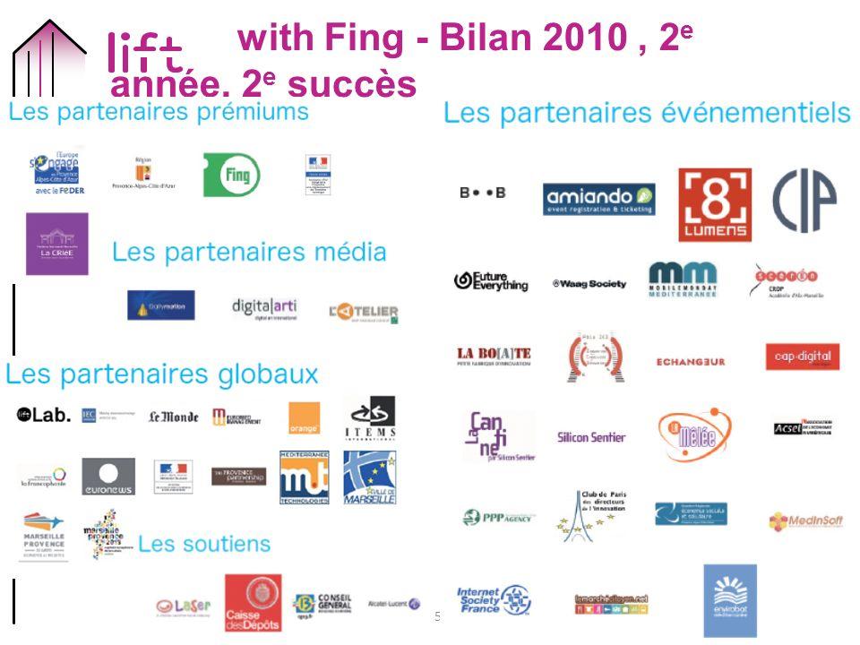 15 with Fing - Bilan 2010, 2 e année, 2 e succès