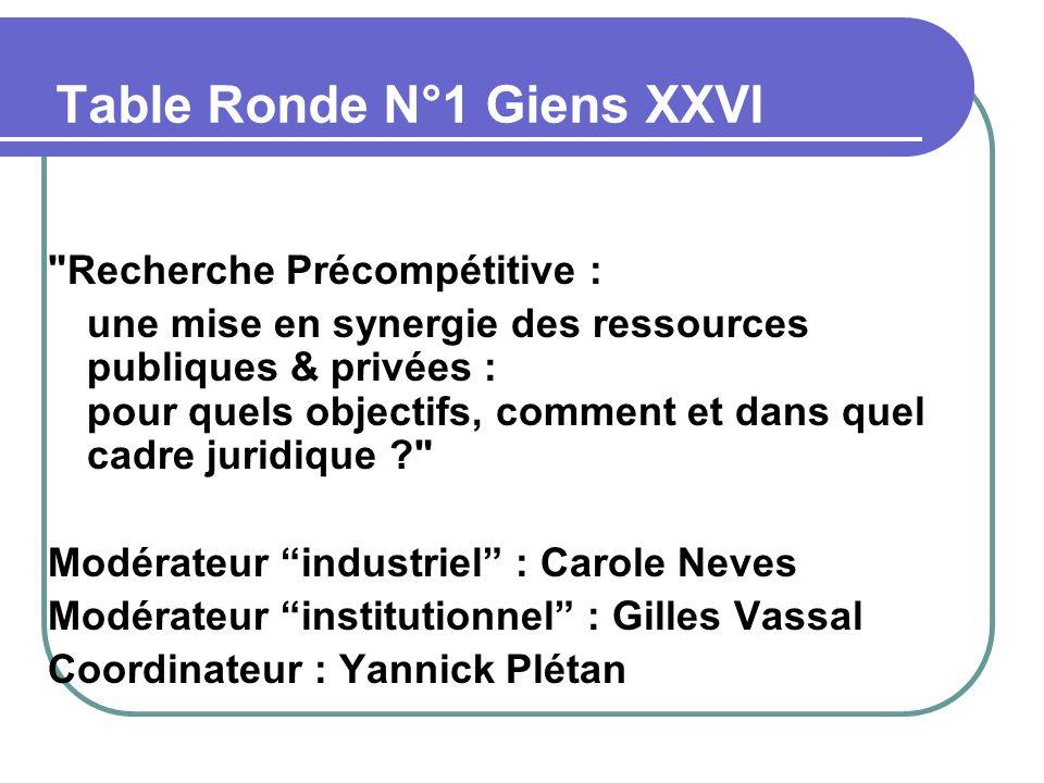 Table Ronde N°1 Giens XXVI
