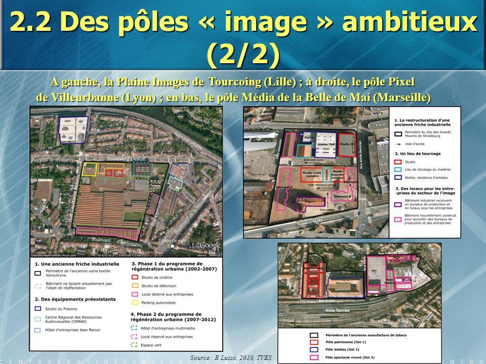 2.2 Des pôles « image » ambitieux (2/2) A gauche, la Plaine Images deTourcoing (Lille) ; à droite, le pôle Pixel A gauche, la Plaine Images de Tourcoi