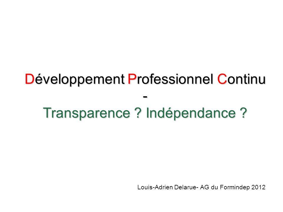 Développement Professionnel Continu - Transparence .