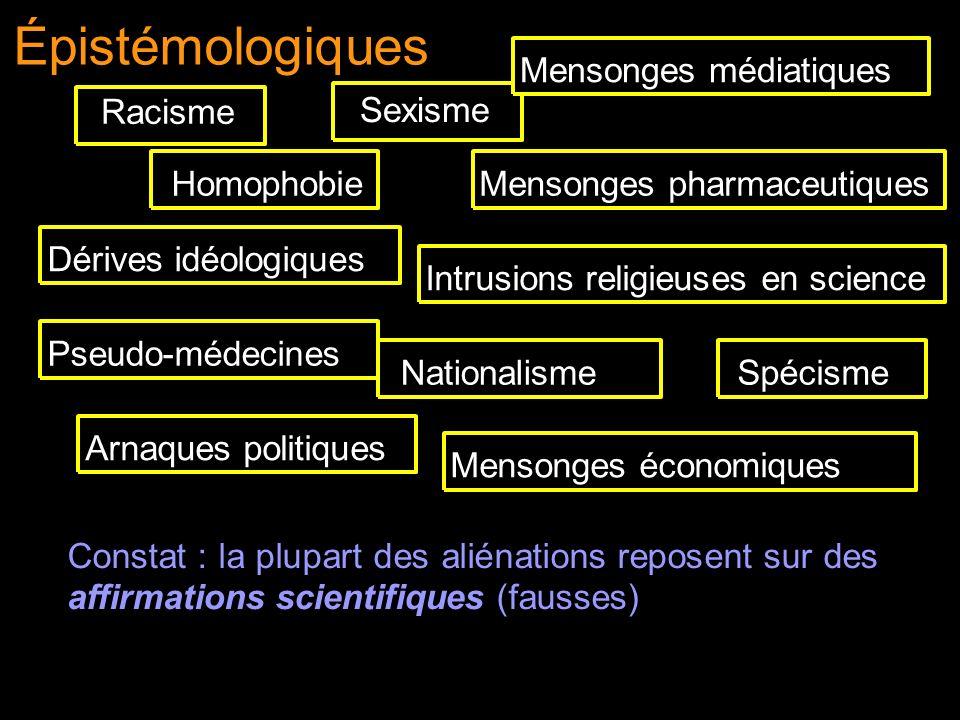 Racisme Sexisme Homophobie Mensonges médiatiquesMensonges économiques Arnaques politiques Dérives idéologiques Mensonges pharmaceutiquesNationalisme P