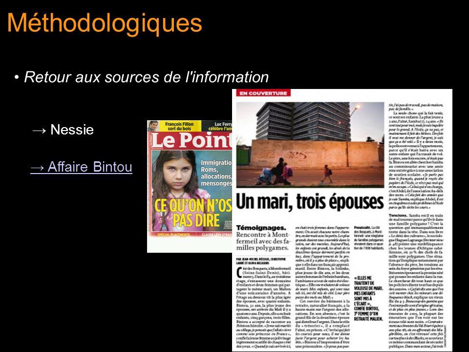 Nessie Affaire Bintou Méthodologiques Retour aux sources de l'information