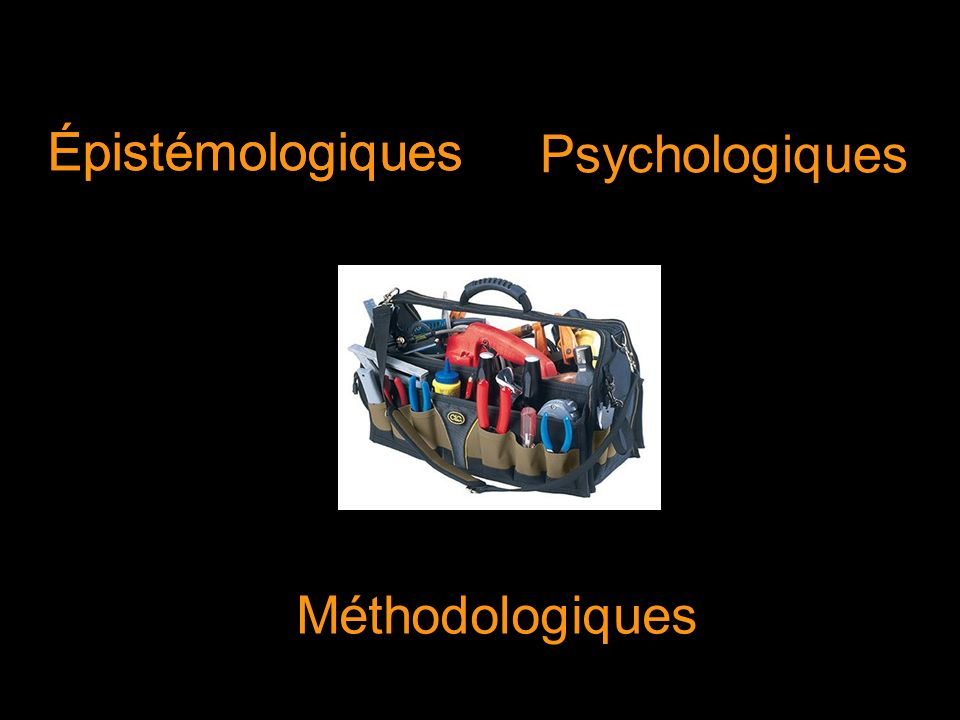 Épistémologiques Méthodologiques Épistémologiques Psychologiques