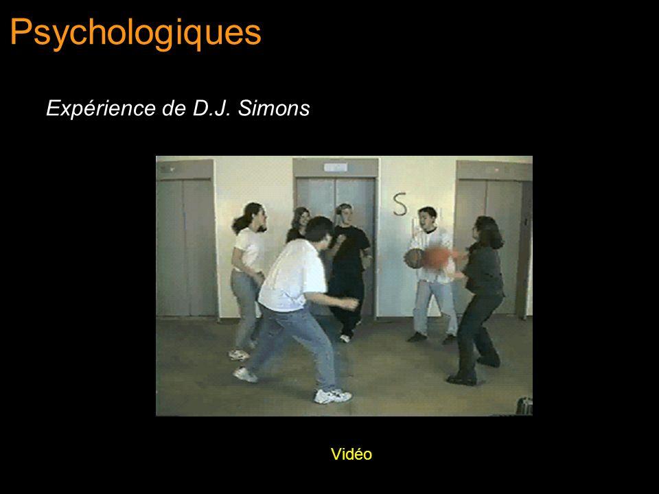 Psychologiques Expérience de D.J. Simons Vidéo