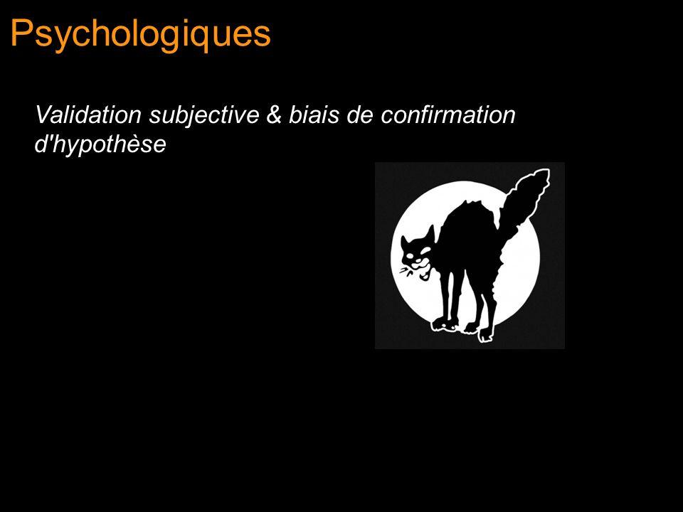 Psychologiques Validation subjective & biais de confirmation d'hypothèse