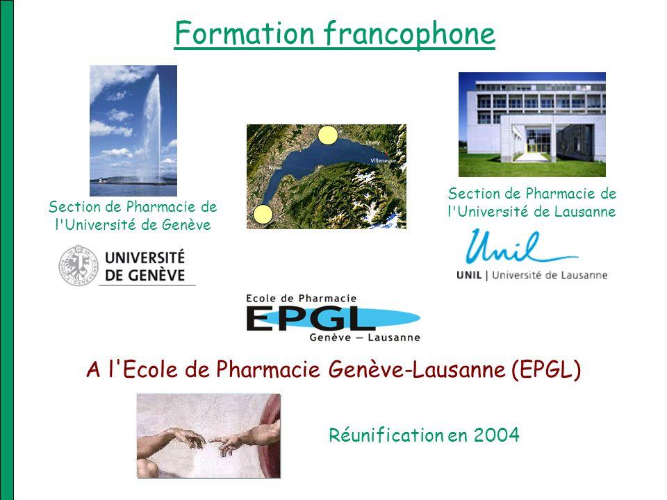 Bachelor en sciences pharmaceutiques 1 e année: 60 crédits ECTS UniGe, Unil, UniNe 2 e année: 60 crédits ECTS UniGe 3 e année: 60 crédits ECTS UniGe Sciences pharmaceutiques: –Chimie analytique pharmaceutique.