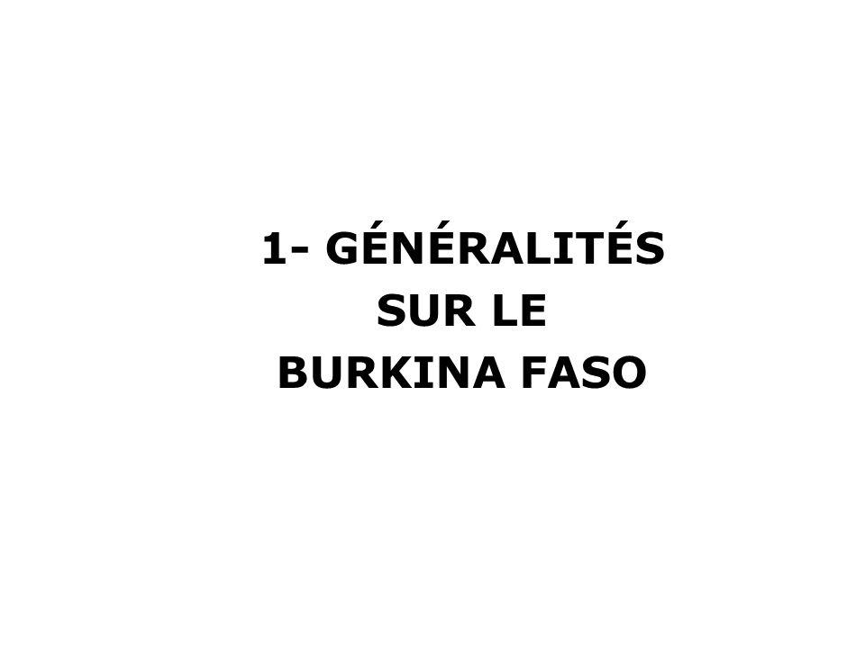 1- GÉNÉRALITÉS SUR LE BURKINA FASO