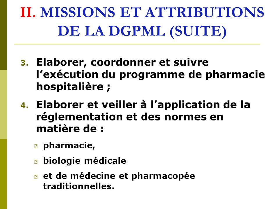 3.Elaborer, coordonner et suivre lexécution du programme de pharmacie hospitalière ; 4.