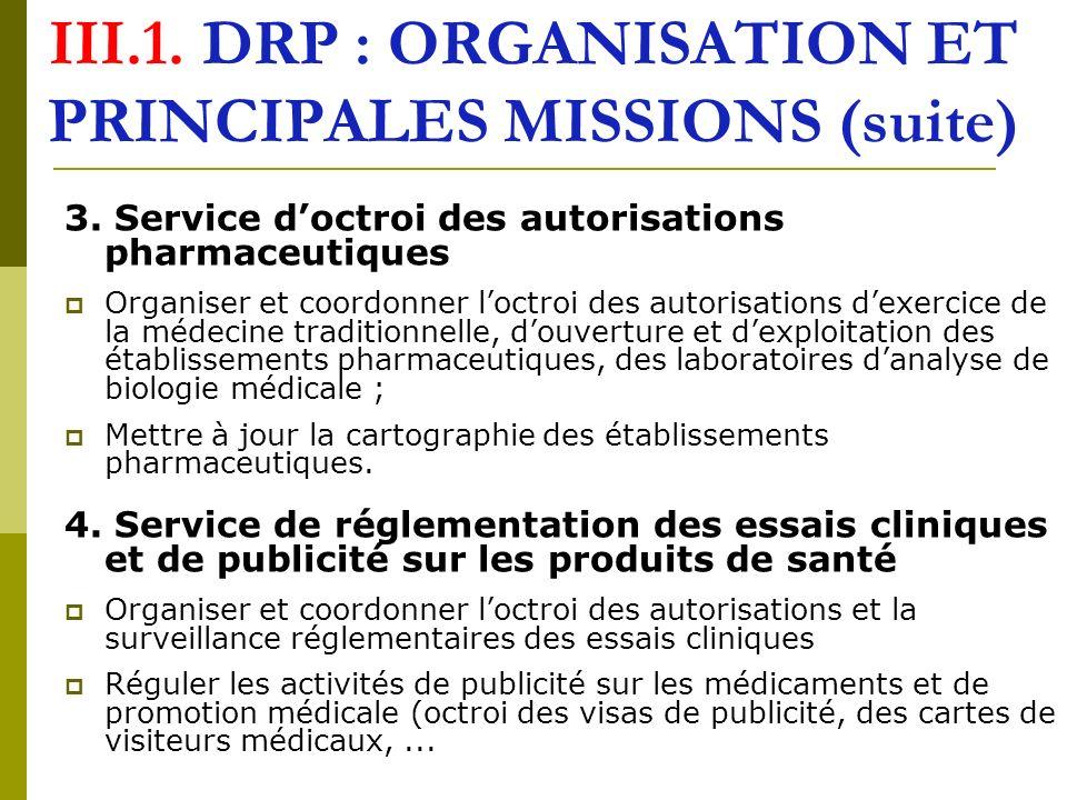 III.2.DAP : ORGANISATION ET PRINCIPALES MISSIONS 1.