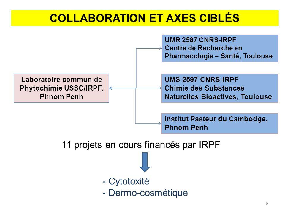 EQUIPEMENTS DANS LE LABORATOIRE - Une chaîne HPLC semi-préparative - Une chaîne CLMP - Un spectromètre UV-visible - Deux évaporateurs rotatifs - Un génévac 7