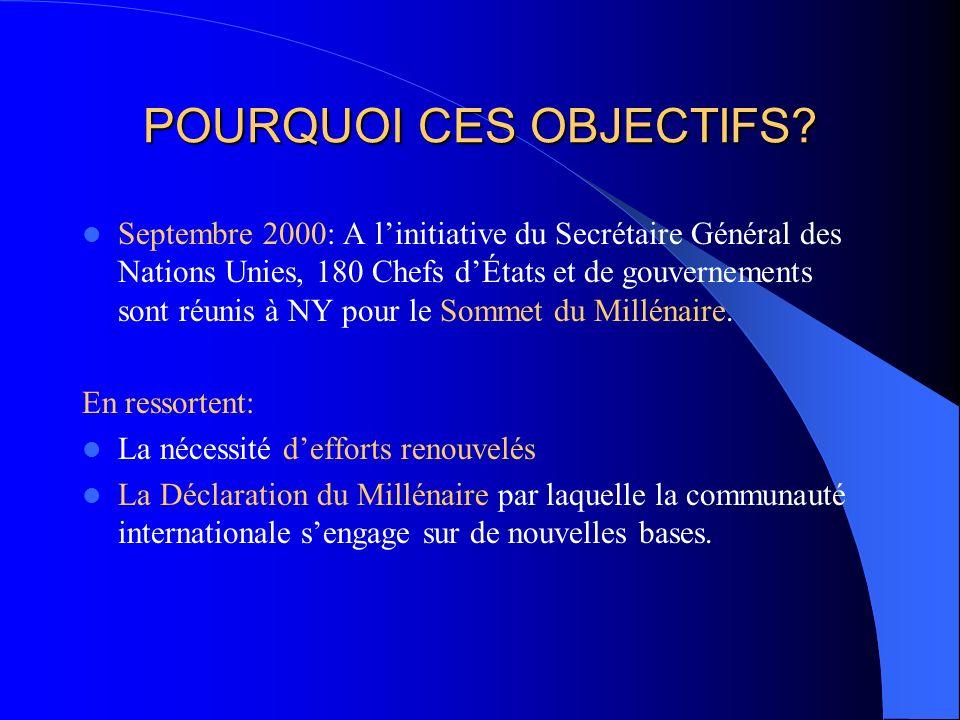 POURQUOI CES OBJECTIFS.