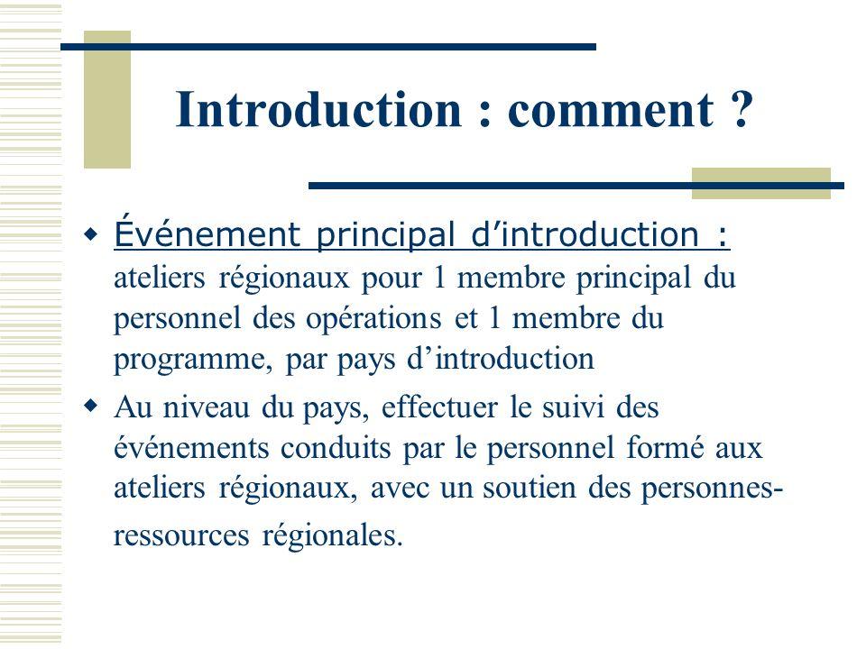 Introduction : comment .
