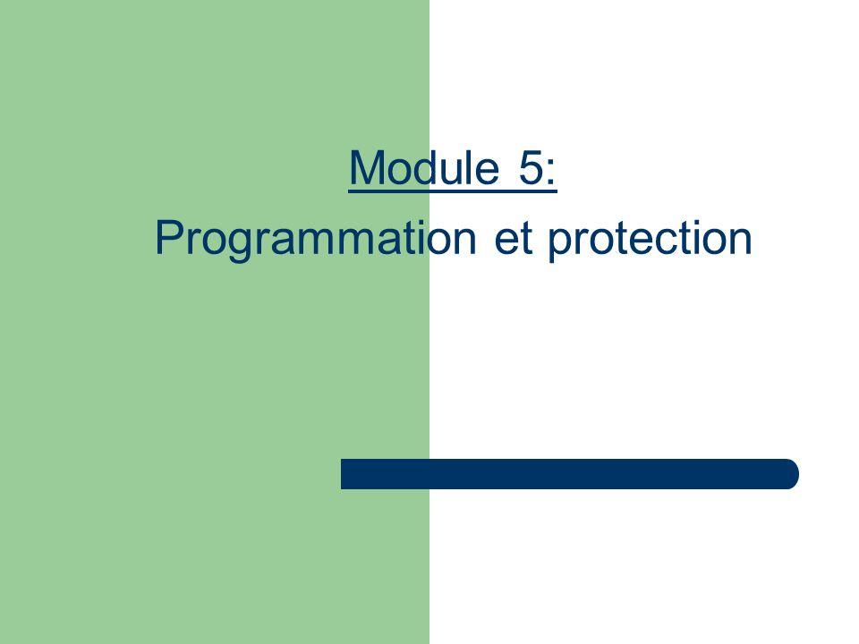 Module 5: Programmation et protection