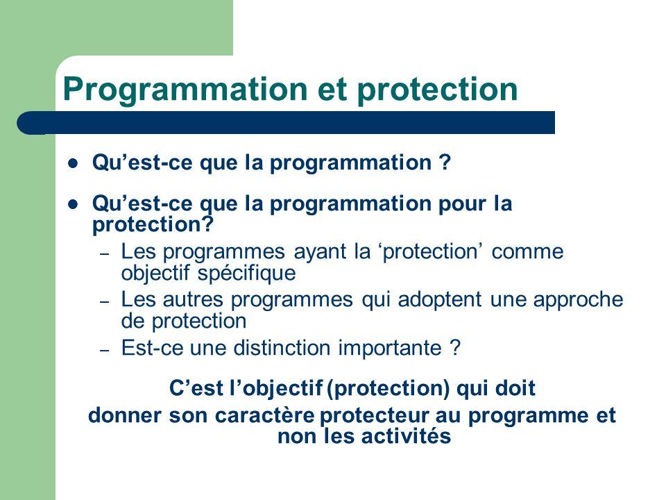 Programmation et protection Quest-ce que la programmation .