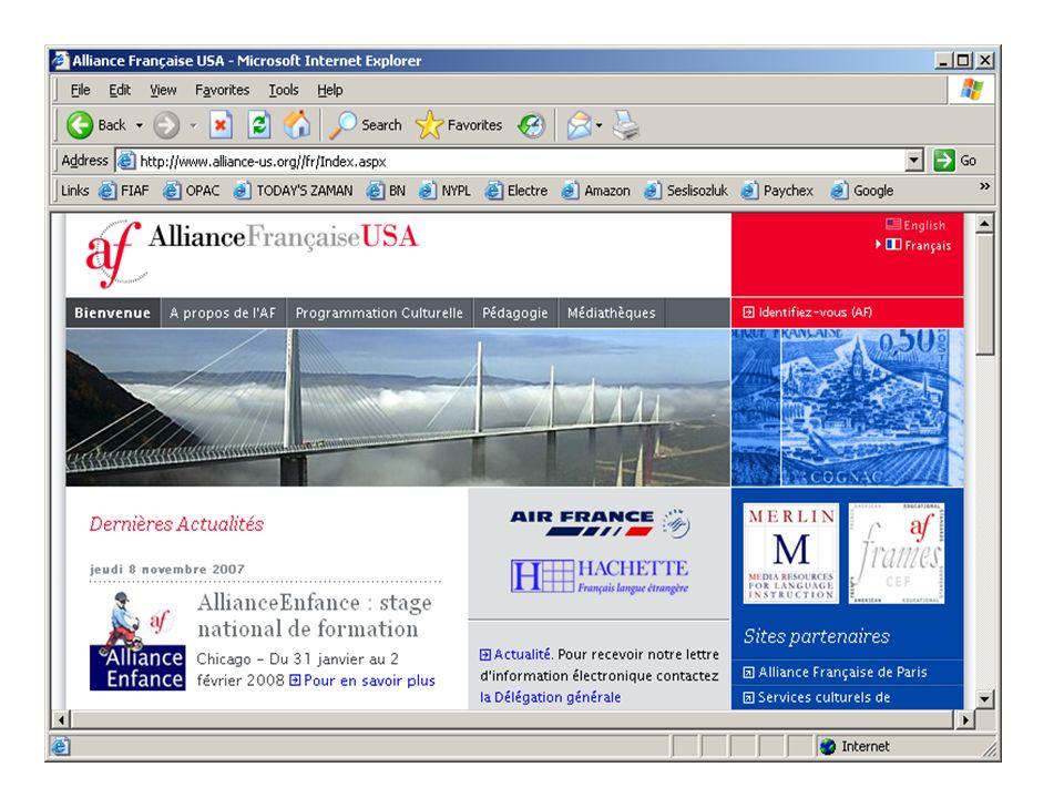 CR-FLE APPRENANTS: le projet offre: Un site internet : http://www.alliance- us.org/Merlin qui regroupe:http://www.alliance- us.org/Merlin