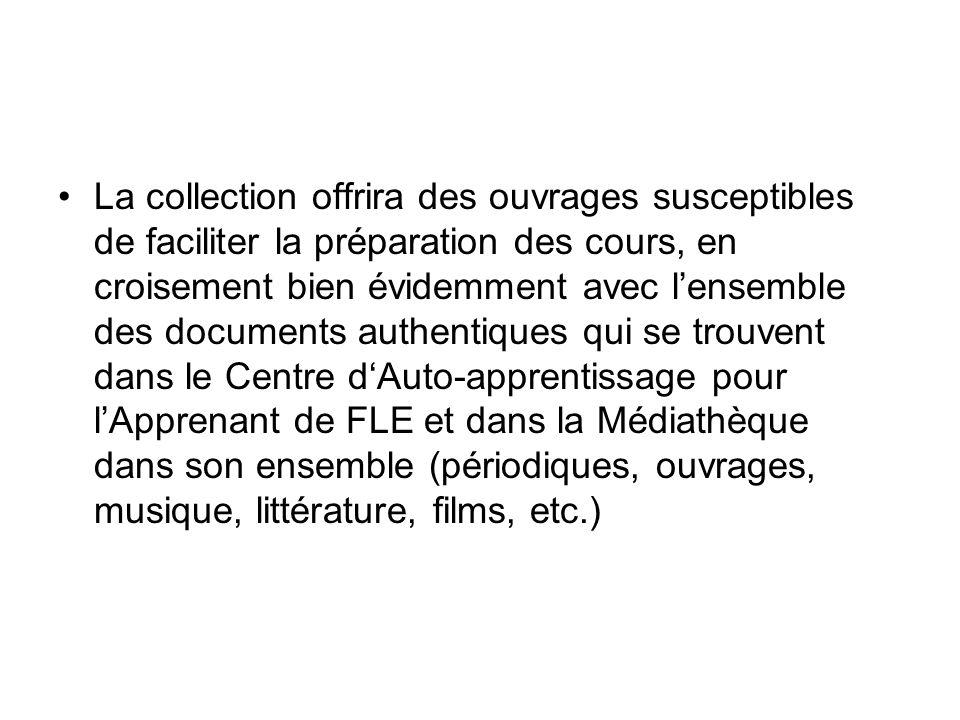 La collection offrira des ouvrages susceptibles de faciliter la préparation des cours, en croisement bien évidemment avec lensemble des documents auth