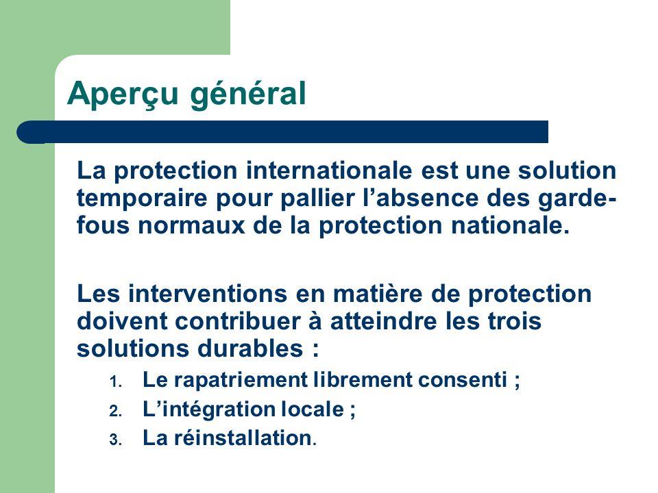 Solutions durables Intégration locale Réinstallation Rapatriement librement consenti