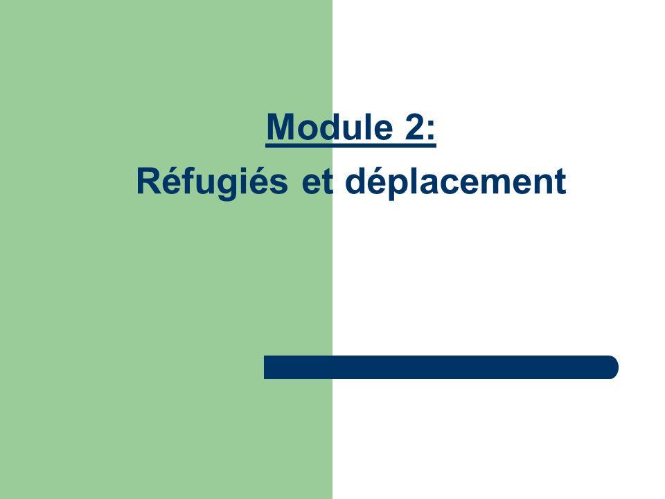Module 2: Réfugiés et déplacement