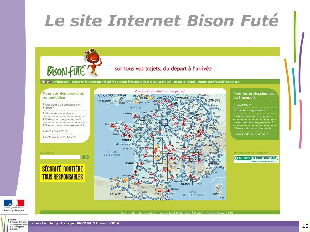 15 15 Comité de pilotage PREDIM 11 mai 2009 Le site Internet Bison Futé