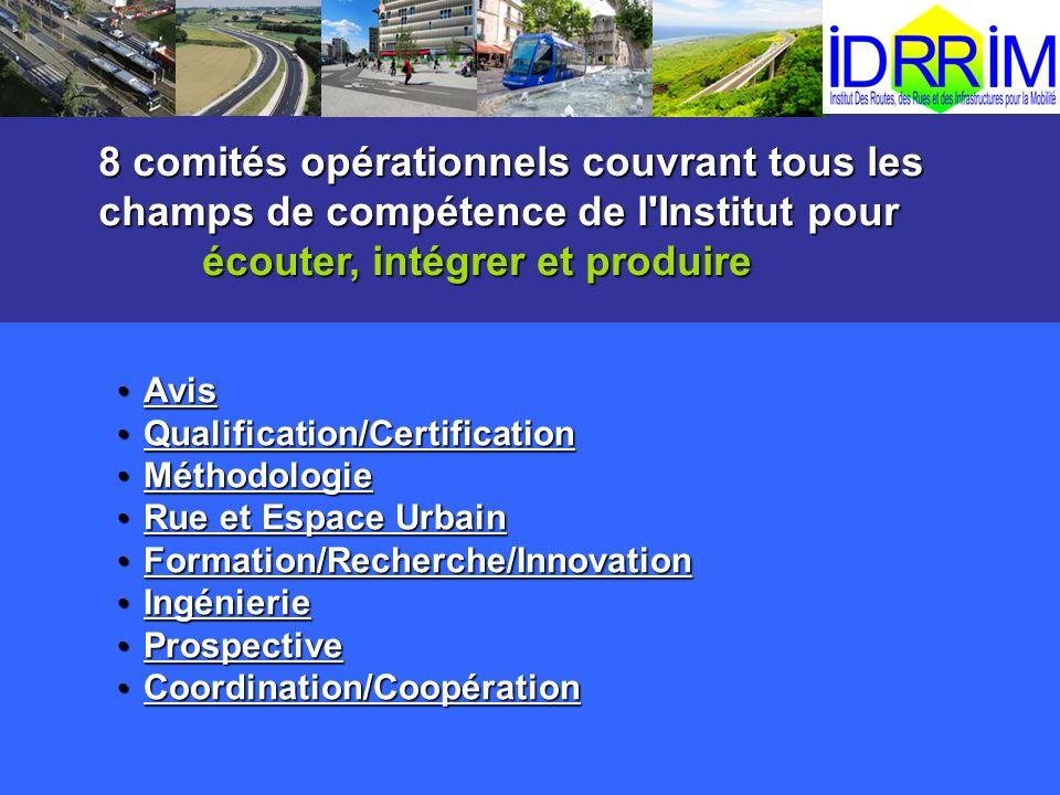 Avis Avis Qualification/Certification Qualification/Certification Méthodologie Méthodologie Rue et Espace Urbain Rue et Espace Urbain Formation/Recher