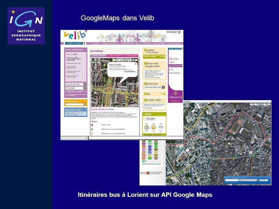 Itinéraires bus à Lorient sur API Google Maps GoogleMaps dans Velib