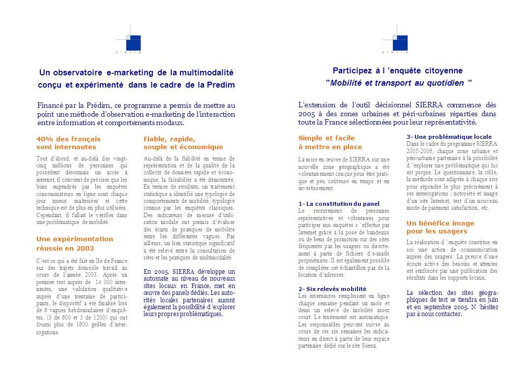 Un observatoire e-marketing de la multimodalité conçu et expérimenté dans le cadre de la Predim 40% des français sont internautes Tout dabord, et au-d