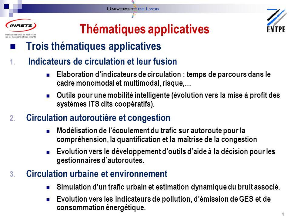 Trois thématiques applicatives 1.
