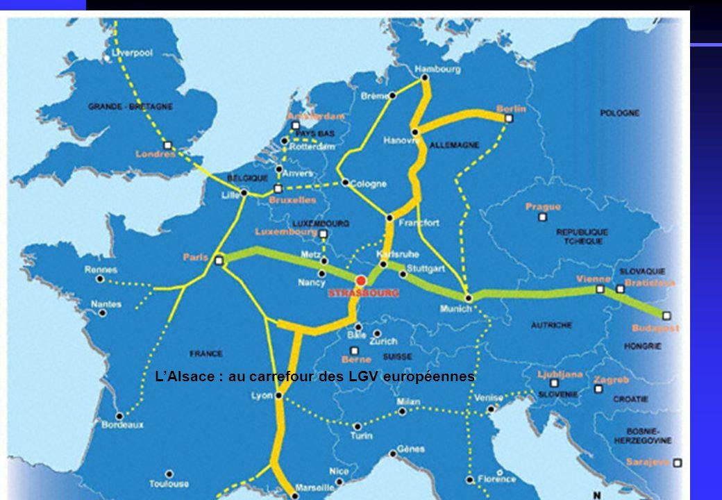 Contexte général : le territoire LAlsace : au carrefour des LGV européennes