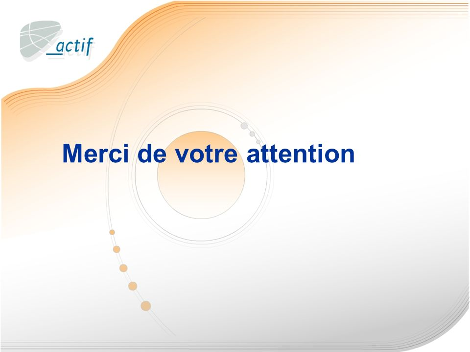 39 Merci de votre attention