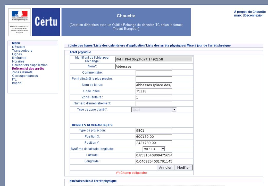 Plusieurs modalités dutilisation Mise à disposition gratuite dun profil d échanges interopérable Trident dit CHOUETTE.