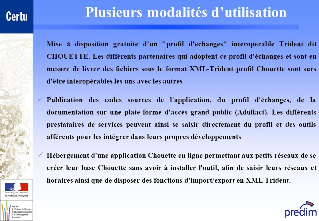 Plusieurs modalités dutilisation Mise à disposition gratuite dun