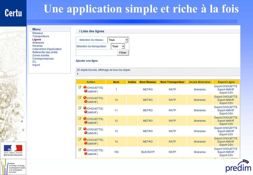 Une application simple et riche à la fois