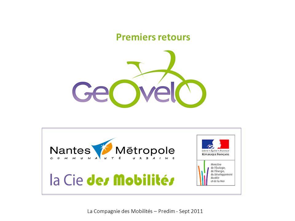 Premiers retours La Compagnie des Mobilités – Predim - Sept 2011