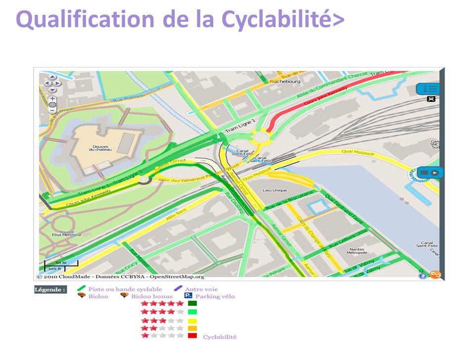 Qualification de la Cyclabilité>