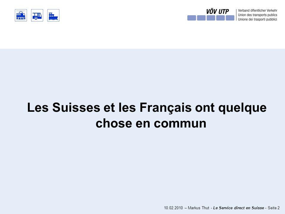 10.02.2010 – Markus Thut - Le Service direct en Suisse - Seite 22 Conditions-cadres en Suisse