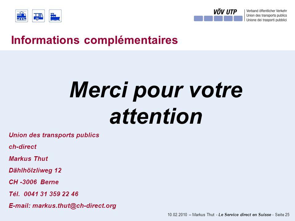 10.02.2010 – Markus Thut - Le Service direct en Suisse - Seite 24 Quest-ce que la France pourrait apprendre de la Suisse.