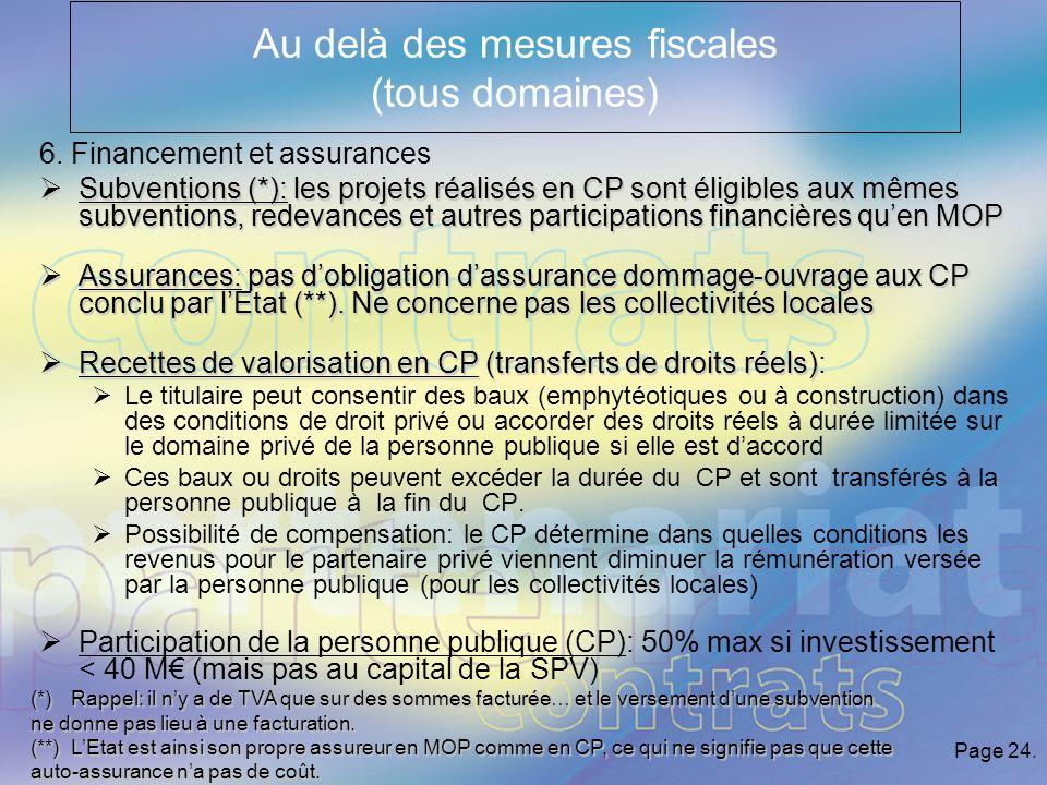 Page 24. Au delà des mesures fiscales (tous domaines) 6.
