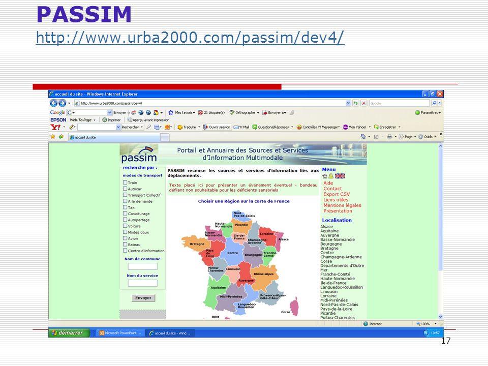 17 PASSIM http://www.urba2000.com/passim/dev4 / http://www.urba2000.com/passim/dev4 /