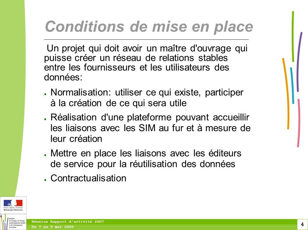 5 Du 7 au 9 mai 2008 Réunion Rapport d activité 2007 5 Réseau: vision technique