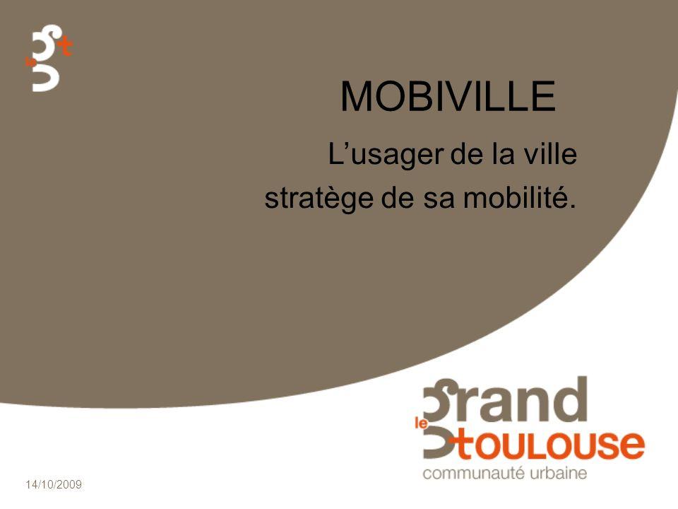 14/10/2009 MOBIVILLE Lusager de la ville stratège de sa mobilité.