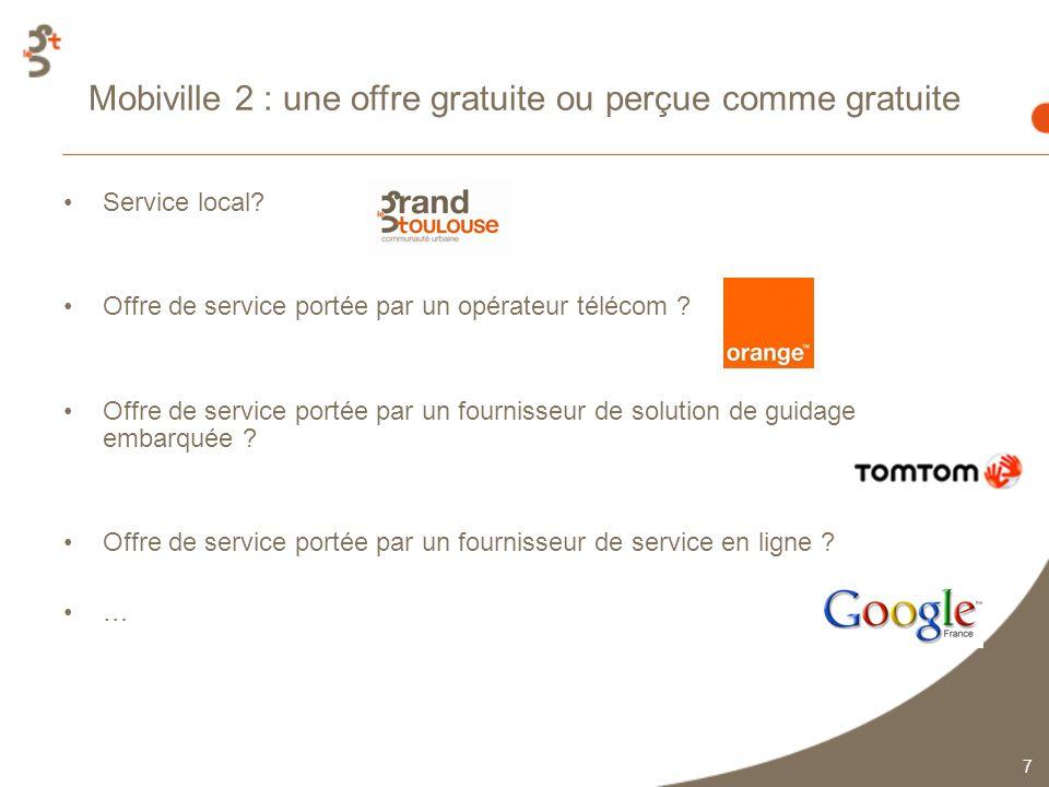 7 Mobiville 2 : une offre gratuite ou perçue comme gratuite Service local.