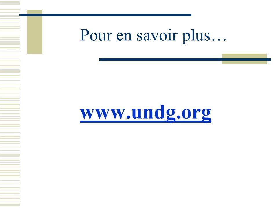 Pour en savoir plus… www.undg.org