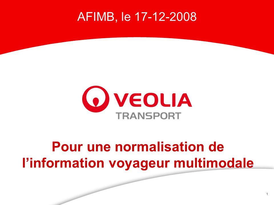1 Pour une normalisation de linformation voyageur multimodale AFIMB, le 17-12-2008