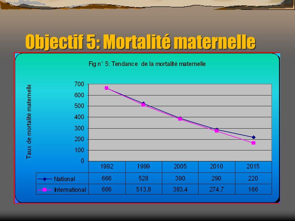 Objectif 5: Mortalité maternelle