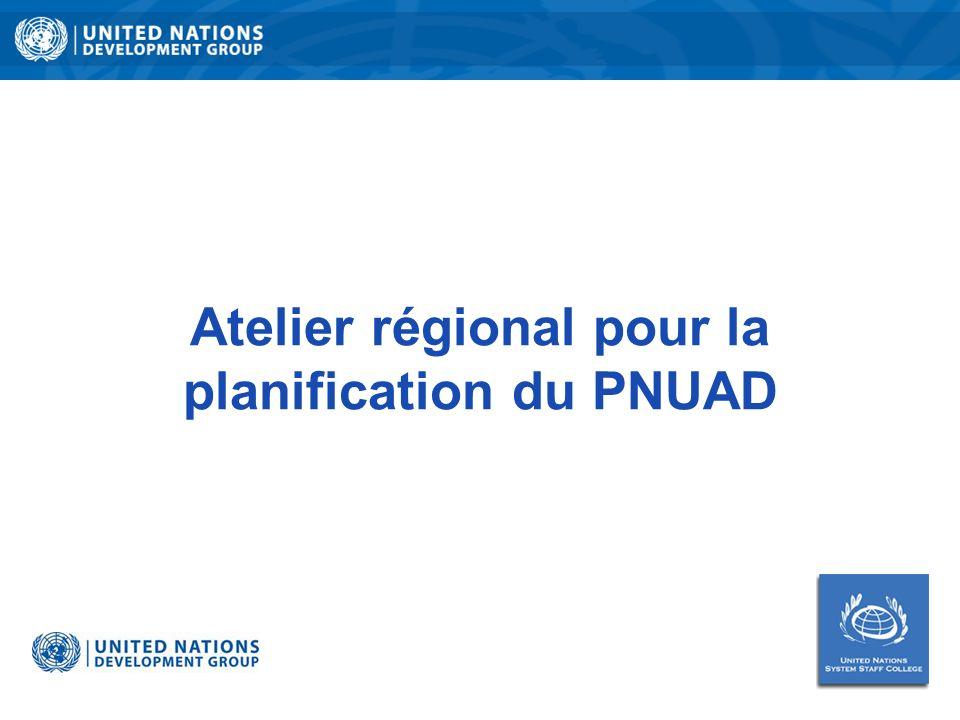 Atelier régional pour la planification du PNUAD
