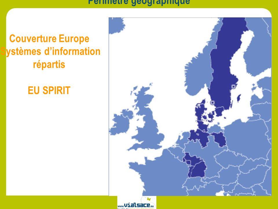Périmètre géographique Couverture Europe Systèmes dinformation répartis EU SPIRIT