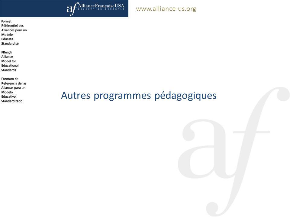 www.alliance-us.org Autres programmes pédagogiques