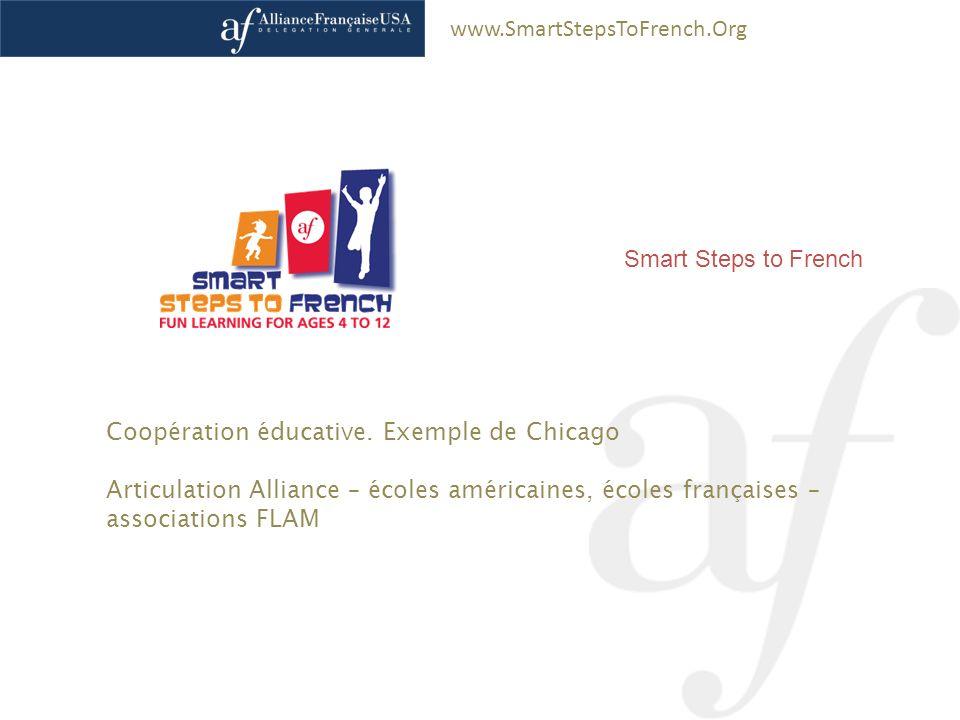 www.SmartStepsToFrench.Org Pascal Saura – Délégation générale Alliance Française États-Unis Smart Steps to French Coopération éducative. Exemple de Ch